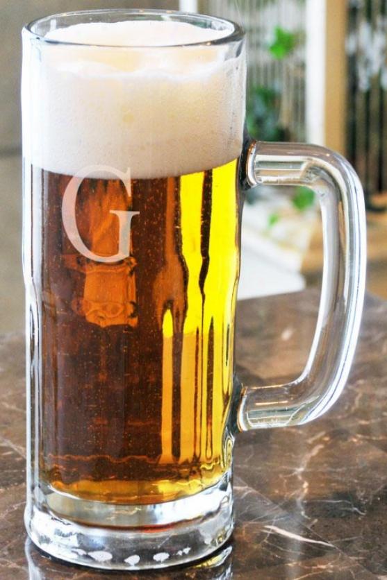 Monogram Tallbboy Beer Mug - 22 Oz, D