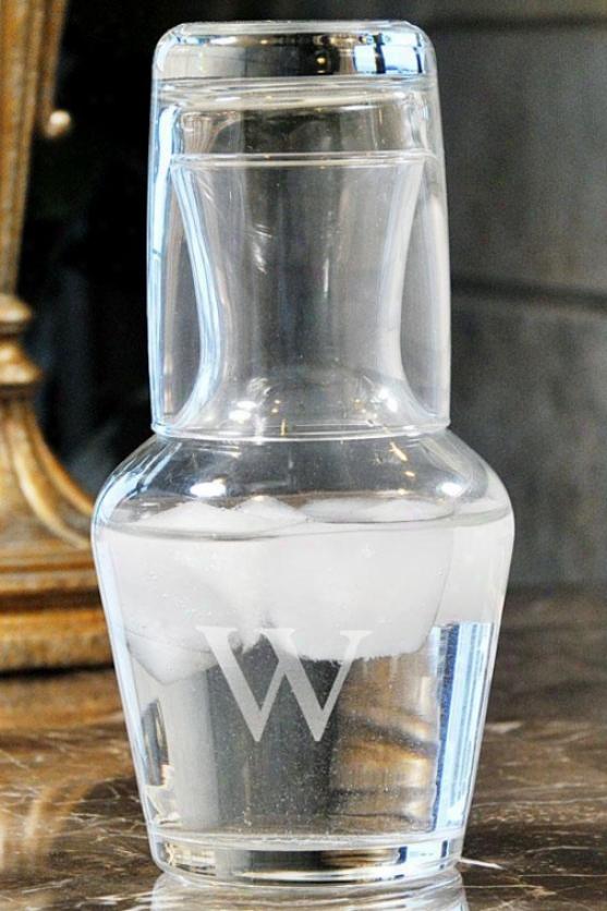 Monogram Water Carafe Set - 16.5 Oz, B
