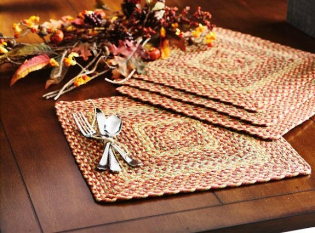 Montague Placemats - Set Of 4 - 4 Pc Set, Brown