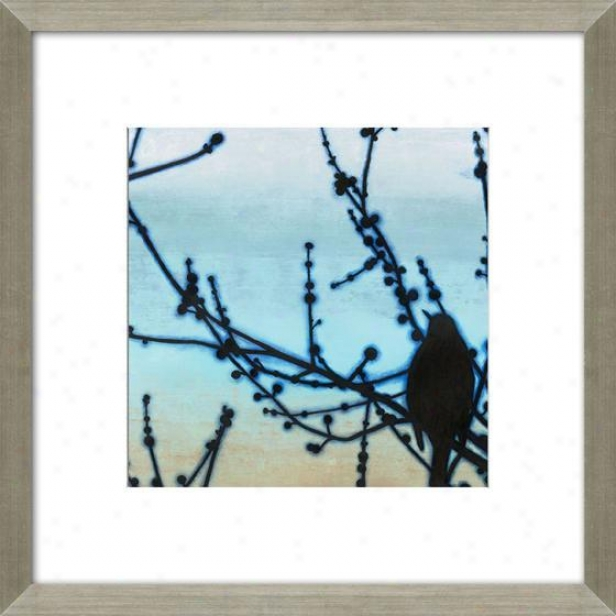 Forenoon Song Iii Framed Wall Art - Iii, Matted Silver