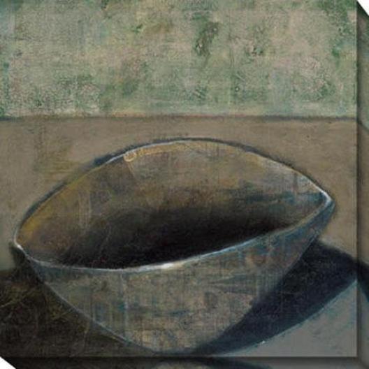 """""""moss Bowl Canvas Wall Art - 40""""""""hx40""""""""w, Gray"""""""