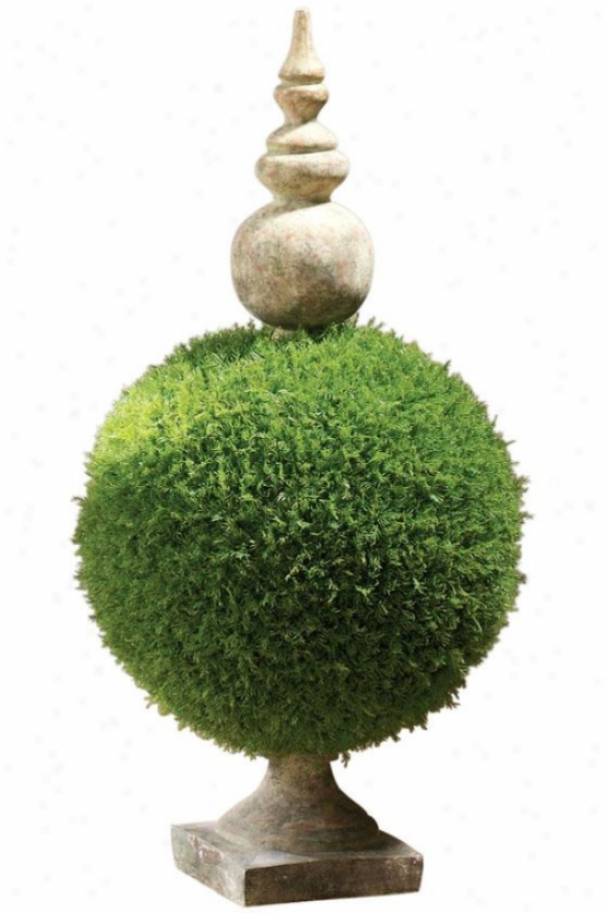 """moss Sphere Topiary Ii - 32""""h, Green"""