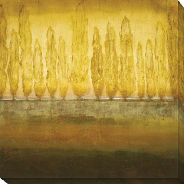 My Backyard Ii Canvas Walll Art - Ii, Earthtones