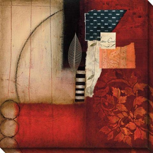 Mystic Ii Canvas Wall Art - Ii, Red