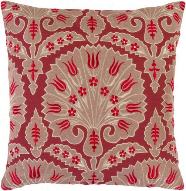 Nadine Decoratlve Pillow - 18hx18w Poly, Red