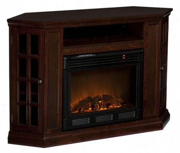 """nancy Convertible Media Fireplace - 48""""wx32""""hx16""""d, Coffee Brown"""