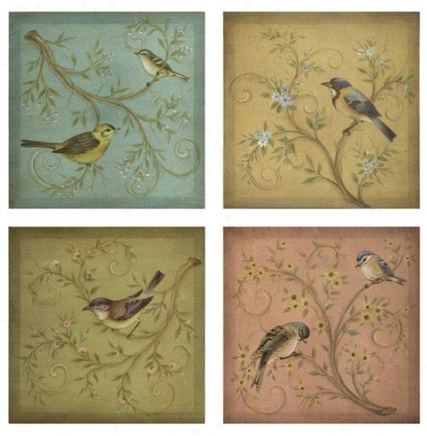 Naomie Canvas Wall Decor - Set Of 4 - Value Of Four, Mlti-bl/gr/yl/p