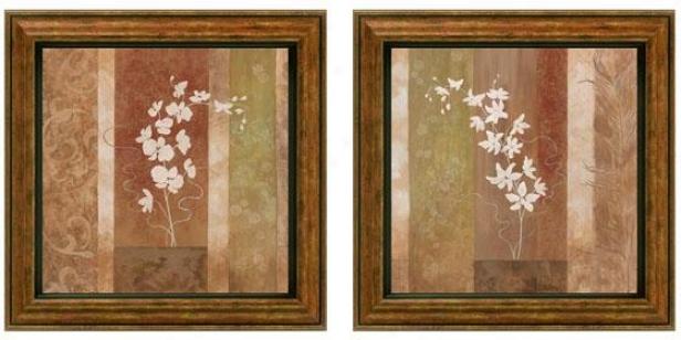 Nature's Silhouette Framed Wall Art - Set Of 2 - Set Of Two, Earthtones