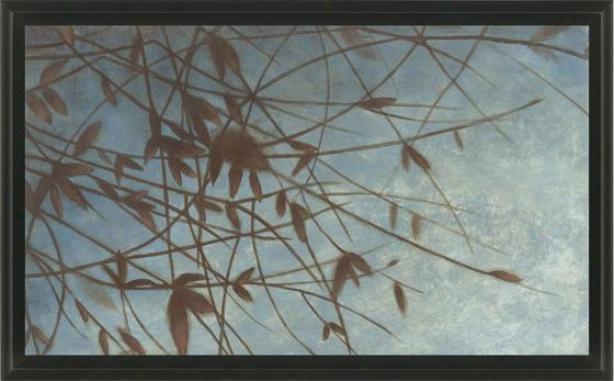 Nature's Whisler Wall Art - Black Frame, Blue