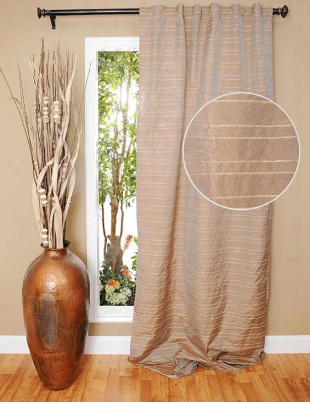 Nekisha Jute Cord Curtain Panel - 96h X 42w, Beige
