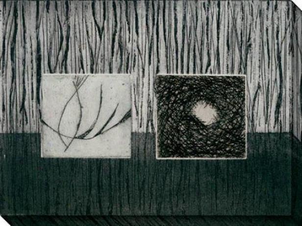 Nest Series V Canvas Wall Art - V, Black