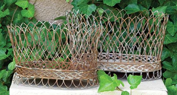 NestedW ire French Baskets - Set Of 2 - Set Of Two, Aged Rust