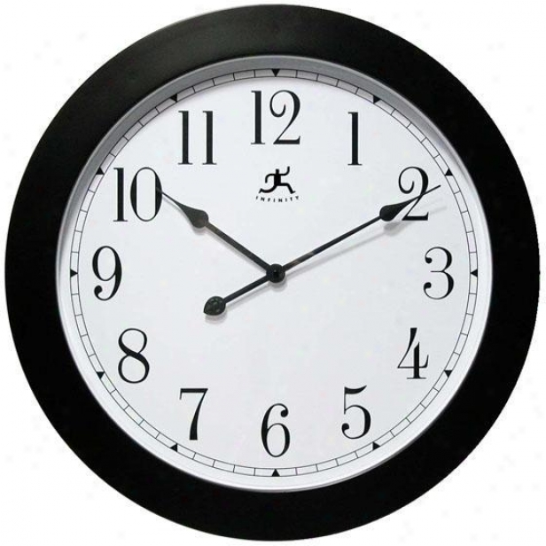 """nexus Walll Clock - 26""""d, White"""