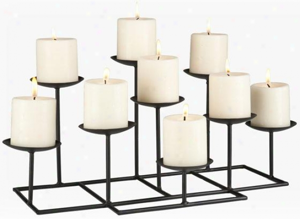 """nine-candle Candelabra - 21""""""x12""""x9""""h, Black"""