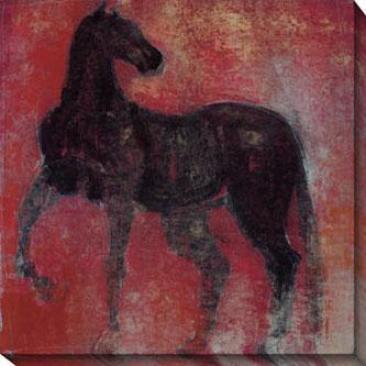 Nonius Ii Canvas Wall Art - Ii, Red