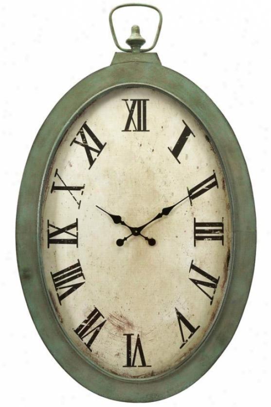 Noran Oversized Wall Clock - 41hx26.25w, White
