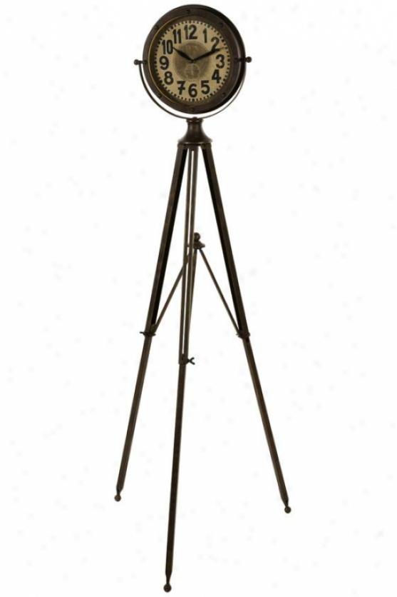 Northcote Adjustable Clock - 54hx41w, Brown