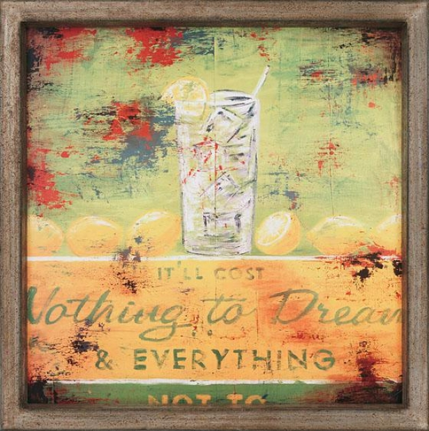 """""""nothing To Dream Wall Art - 41""""""""squarex2""""""""d, Green"""""""