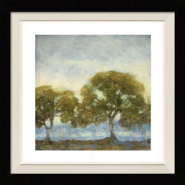 Oaks In The Mist Framed Wall Creation of beauty - I, Floated Black