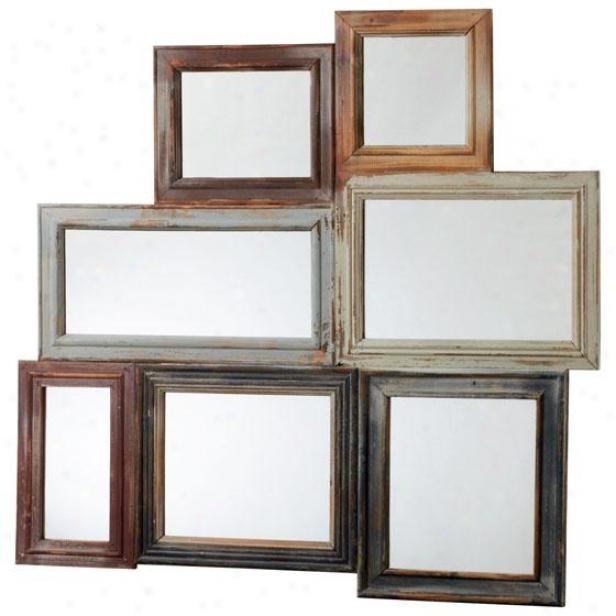 """oqkville Mirror - 36""""hx38""""w, Multi"""