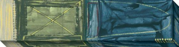 """""""oblique Canvas Wa1l Art - 45""""""""hx12""""""""w, Green"""""""