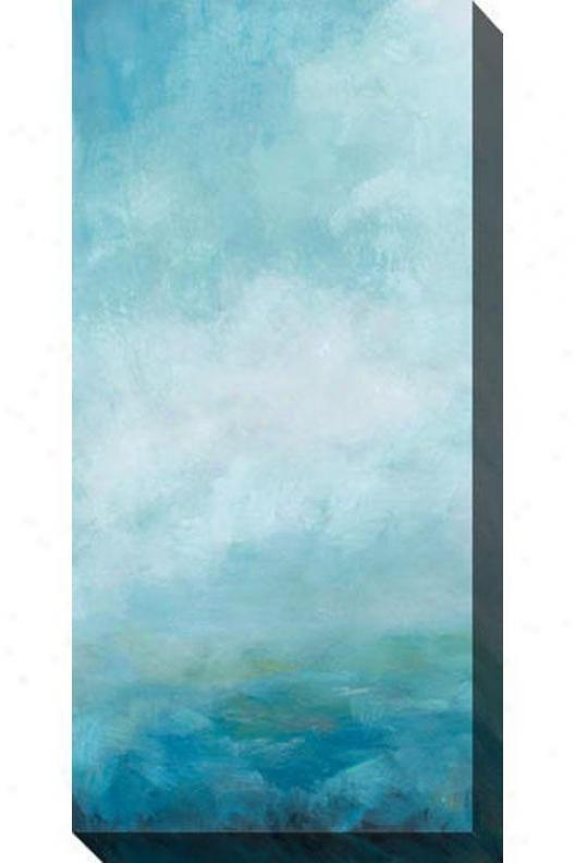 Ocean Forehead Ii Canvas Wall Art - Ii, Blue