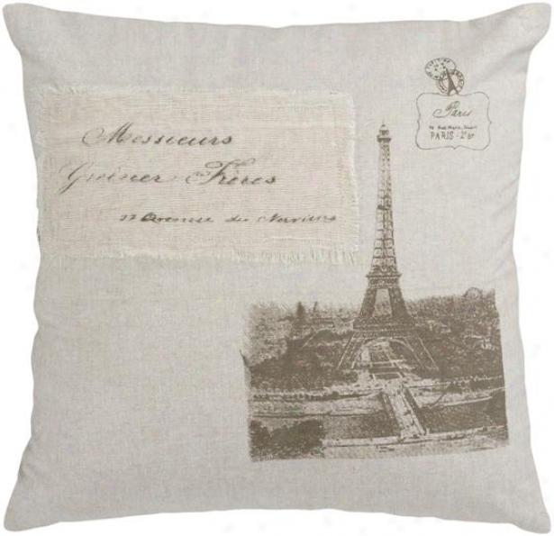 Odette Decoeative Pillow - 18hx18w Down, Beige