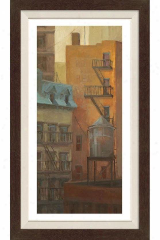 Old Town Ii Framed Wall Art - Ii, Fltd Espresso