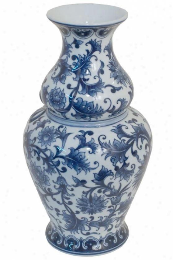 """olivia Ceramic Pottery - 14""""hx8""""round, Blue"""