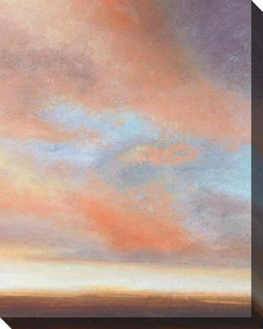 On The Horizon Ii Canvas Wall Art - Ii, Blue