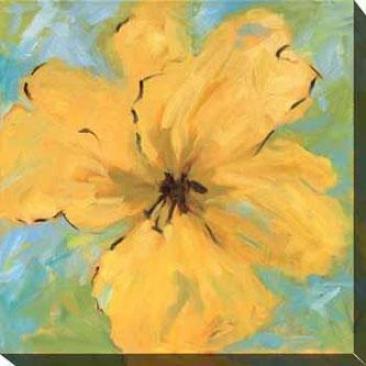 Opulence I Canvas Wall Art - I, Yellow