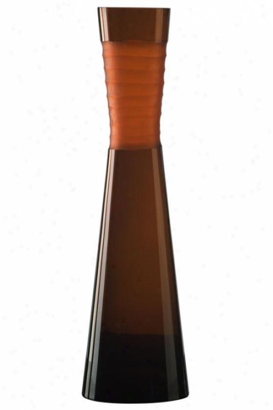"""""""orange Chiseled Vase - Large 19""""""""h, Orange"""""""