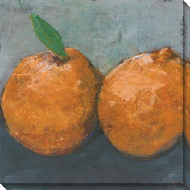 """ornge Jaffa Canvas Wall Art - 40""""hx40""""w, Orange"""