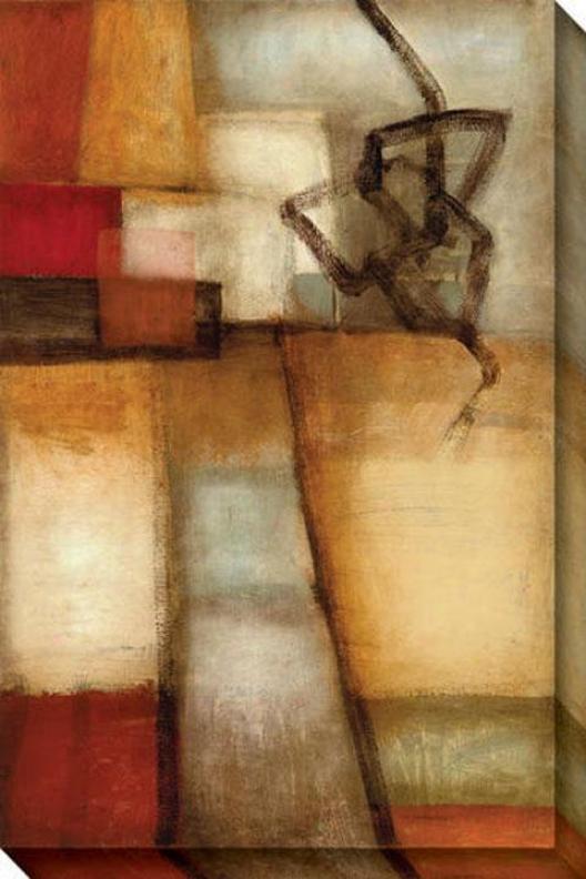 Outside Influences I Canvas Wall Art - I, Earthtones