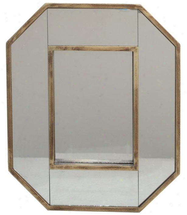"""owen Wall Mirror - 14h X 12w X 2""""d, Gold"""
