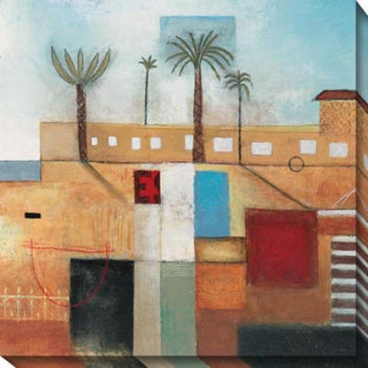 """palm City Cannvas Wall Art - 40""""hx40""""w, Multi"""