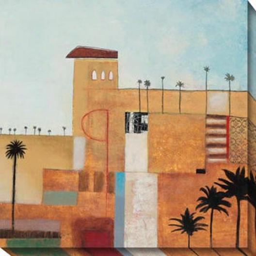"""""""palm Oasis Canvas Wall Art - 40""""""""hx40""""""""w, Multi"""""""