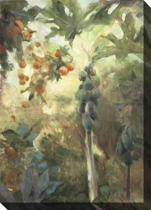"""""""papaya Canvas Wall Creation of beauty - 35""""""""hx48""""""""w, Gray"""""""
