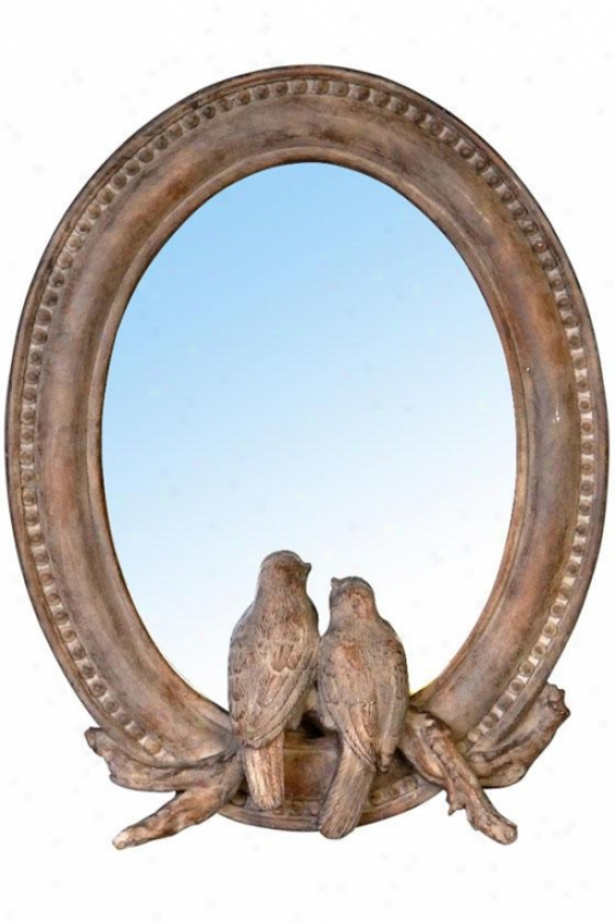 """Eden Mirror - 7.5""""wx9.5""""h, Natural Wood"""