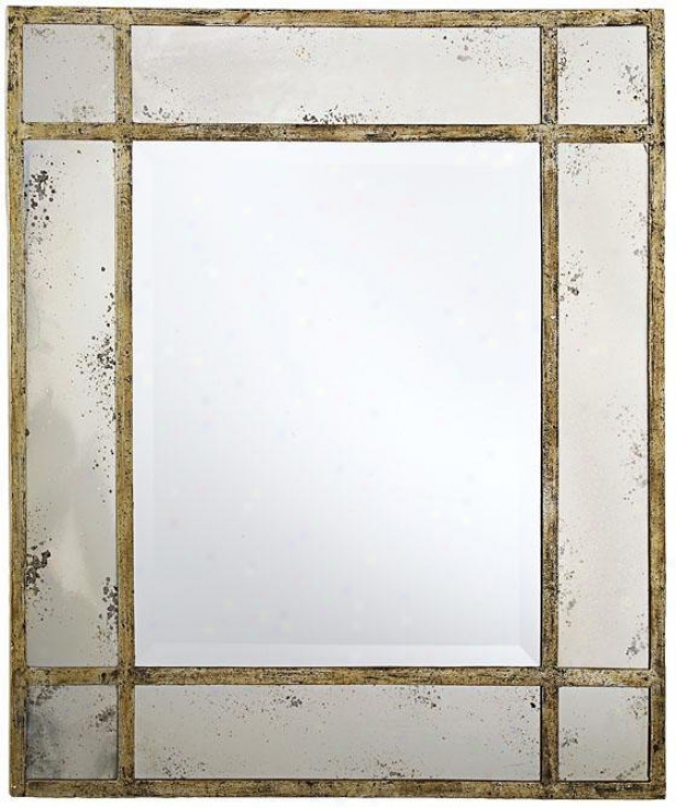 Paris Masnion Antiqued Gold Wall Mirror