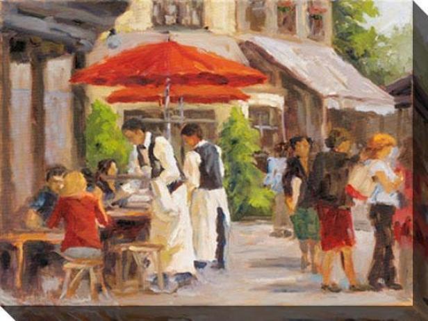 Paris Street Scene Ii Canvas Wall Art - Ii, Multi