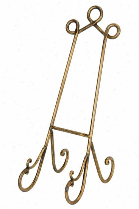 """""""parlour Golden Easel - 19""""""""h, Golden"""""""