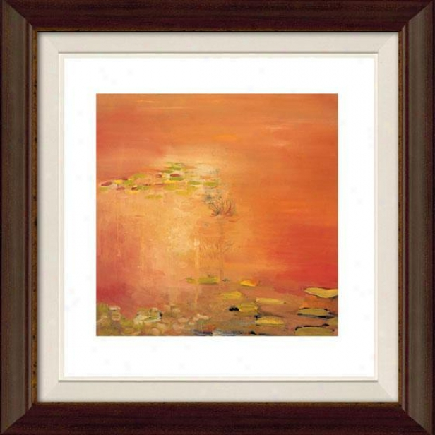 """pass Through Framed Wall Art - 32""""hx32""""w, Flt Atq Wln/gol"""