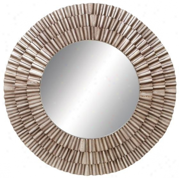 Payton Wall Mirror - 41hx41w, Brown