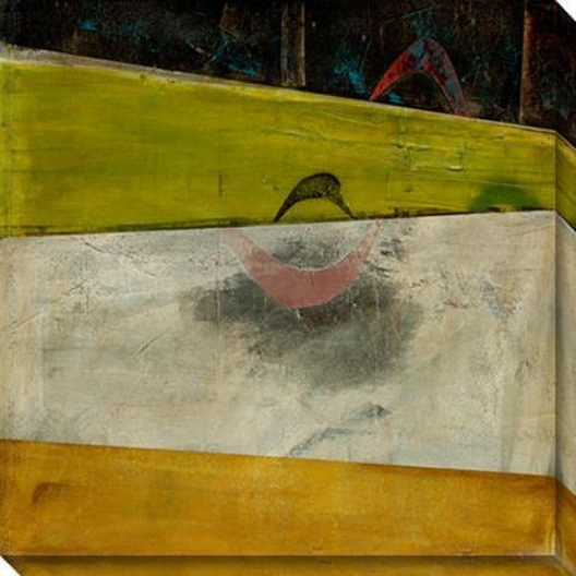 Peculiar Disposition I Canvas Wall Art - I, Green