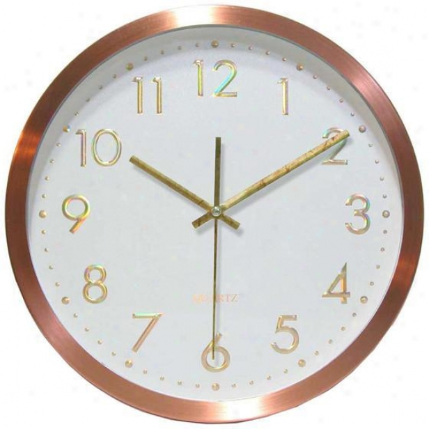 """penny For Your Time Wall Clock - 12""""d, Copper"""