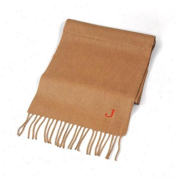 Personalized Cashmere Scarf - 1hx12w, Brown
