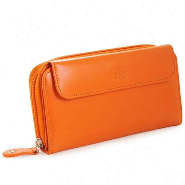 Personalized Curacao Leather Grasp Wallet - 7hx4w, Orange