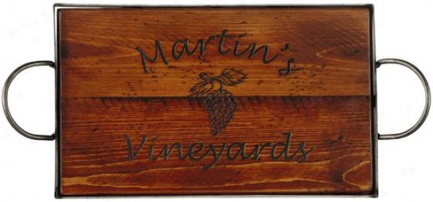 """""""personalized Pub Tray - 4h X 26w X 12""""""""d, Olive Green"""""""