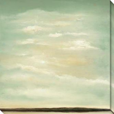 Perspective I Canvas Wall Art - I, Green